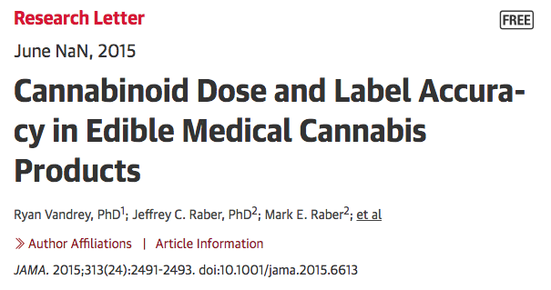 Paper showing why dosage in edibles is completely unreliable.
