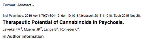 Therapeutic Potential of Cannabinoids in Psychosis.