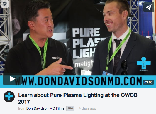 Learn about Pure Plasma Lighting at the CWCB 2017