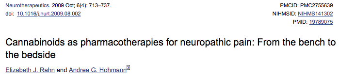 Cannabinoids as pharmacotherapies for neuropathic pain: From the bench to the bedside