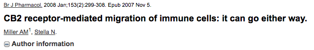 CB2 receptor-mediated migration of immune cells: it can go either way.