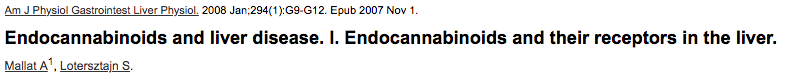 Endocannabinoids and liver disease. I. Endocannabinoids and their receptors in the liver.