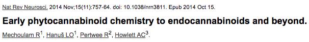Early phytocannabinoid chemistry to endocannabinoids and beyond.