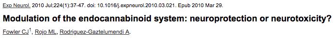 Modulation of the endocannabinoid system: neuroprotection or neurotoxicity?
