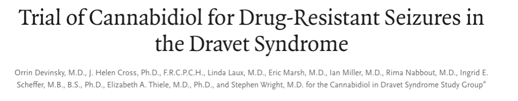Trial of Cannabidiol for Drug-Resistant Seizures in the Dravet Syndrome