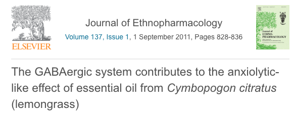 The GABAergic system contributes to the anxiolytic-like effect of essential oil from Cymbopogon citratus (lemongrass)