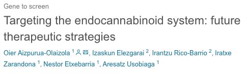 Targeting the endocannabinoid system: future therapeutic strategies