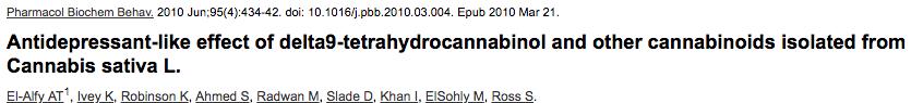 Antidepressant-like effect of delta9-tetrahydrocannabinol and other cannabinoids isolated from Cannabis sativa L.