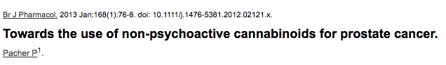 Towards the use of non-psychoactive cannabinoids for prostate cancer.
