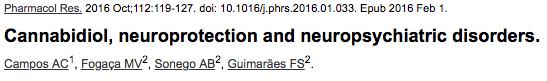 Cannabidiol, neuroprotection and neuropsychiatric disorders.